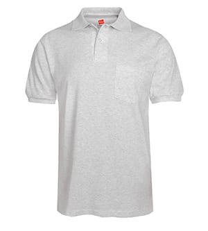 Hanes 504 - ADULT COMFORTBLEND ECOSMART JERSEY POLO WITH POCKET
