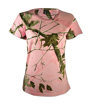 Code Five 3685 - REALTREE LADIES' CAMOUFLAGE SHORT SLEEVE T-SHIRT