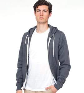 American Apparel S104AM - UNISEX FLEX FLEECE ZIP HOODY
