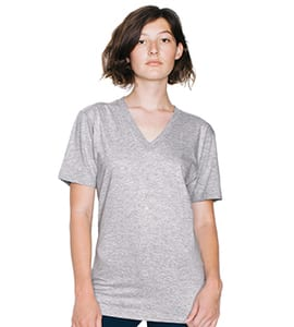 American Apparel 2456 - UNISEX FINE JERSEY V-NECK TEE