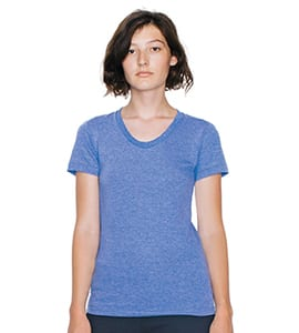 American Apparel TR301 - WOMENS TRI BLEND TRACK TEE WOMENS TRI BLEND TRACK TEE