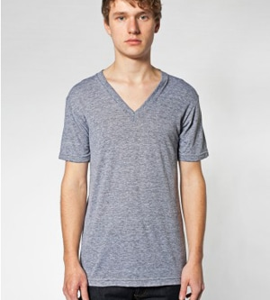 American Apparel S200AM - UNISEX TRI-BLEND V NECK TEE