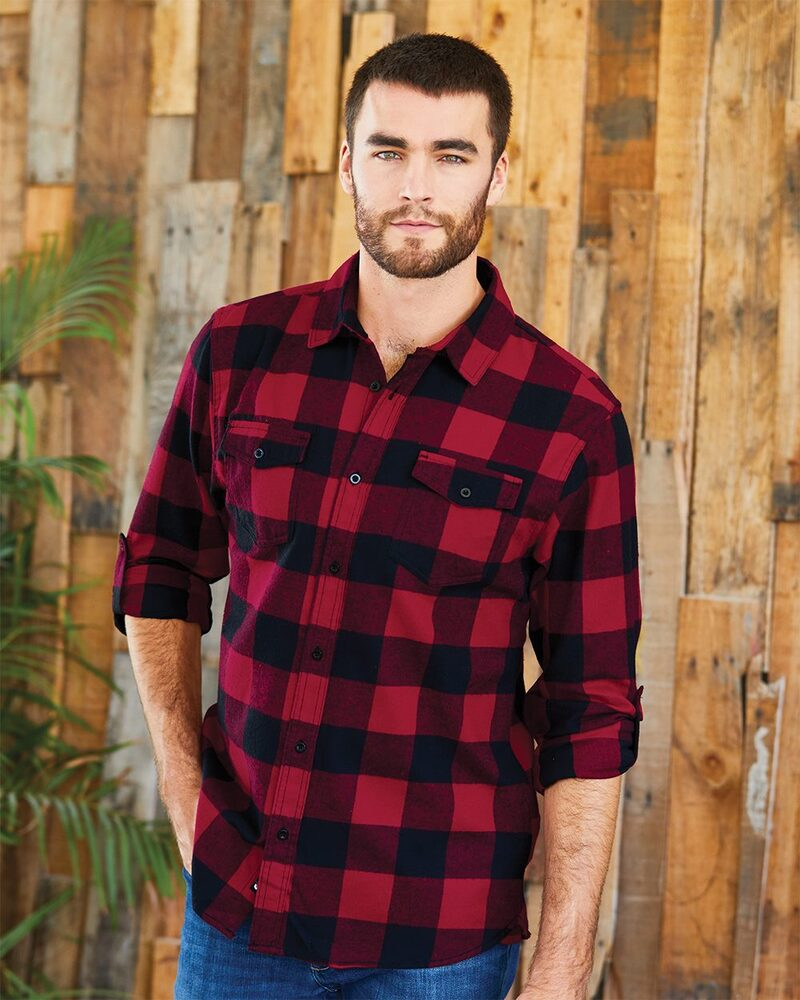 Burnside 8210 - MEN'S WOVEN PLAID FLANNEL