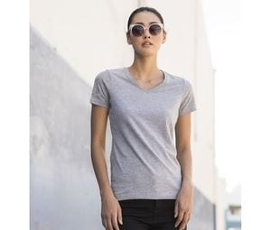SF Women SK122 - Tee-shirt stretch col V femme