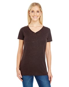 Threadfast 215B - Ladies Cross Dye Short-Sleeve V-Neck T-Shirt