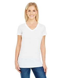 Threadfast 230B - Ladies Pigment Dye Short-Sleeve V-Neck T-Shirt