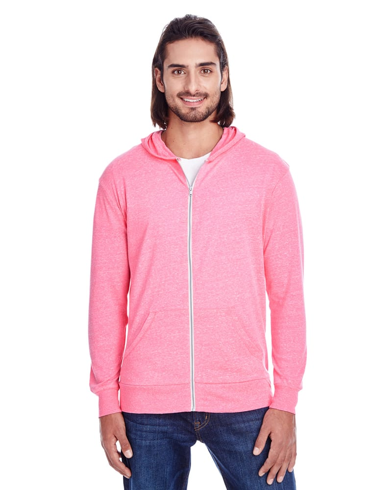 Threadfast 302Z - Unisex Triblend Full-Zip Light Hoodie