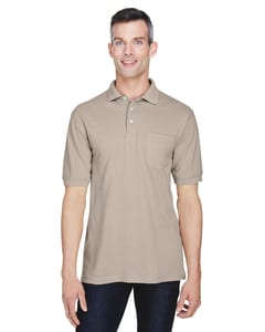 Harriton M265P - 5.6 oz./yd2 Easy Blend™ Polo with Pocket