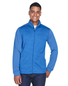 Devon & Jones DG796 - Mens Newbury Colorblock Mélange Fleece Full-Zip