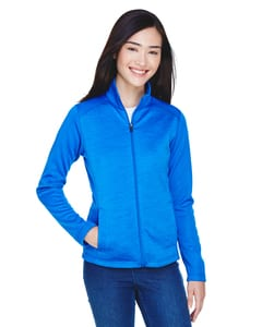 Devon & Jones DG796W - Ladies Newbury Colorblock Mélange Fleece Full-Zip