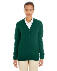 Harriton M425W - Ladies Pilbloc™ V-Neck Button Cardigan Sweater