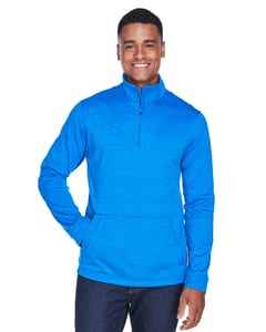 Devon & Jones DG798 - Mens Newbury Mélange Fleece Quarter-Zip