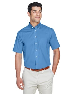 Devon & Jones D620S - Mens Crown Collection™ Solid Broadcloth Short Sleeve Shirt
