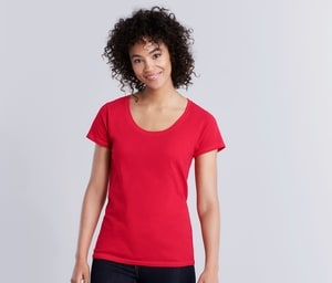 GILDAN GN645 - SOFSTYLE LADIES DEEP SCOOP T/SHIRT