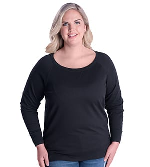 LAT 3862 - LADIES' CURVY FRENCH TERRY PULLOVER