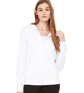 Bella+Canvas B7007 - WOMENS FLEECE FULL-ZIP RAGLAN HOODIE
