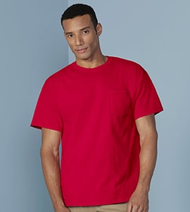 Gildan G5300 - HEAVY COTTON ADULT TEE WITH POCKET
