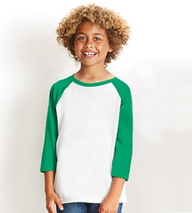 Next Level NL3352 - Youth CVC 3/4 Sleeve Raglan Tee