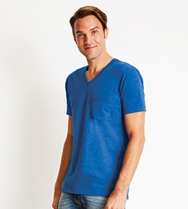 Next Level NL6245 - MENS CVC POCKET V-NECK TEE