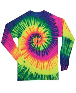 Colortone T304P - Adult Neon Rainbow Long Sleeve Tee