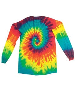 Colortone T327R - Adult Reactive Rainbow Long Sleeve Tee