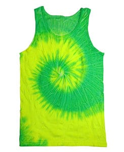 Colortone T377P - Adult Flo Yellow/Lime Swirl