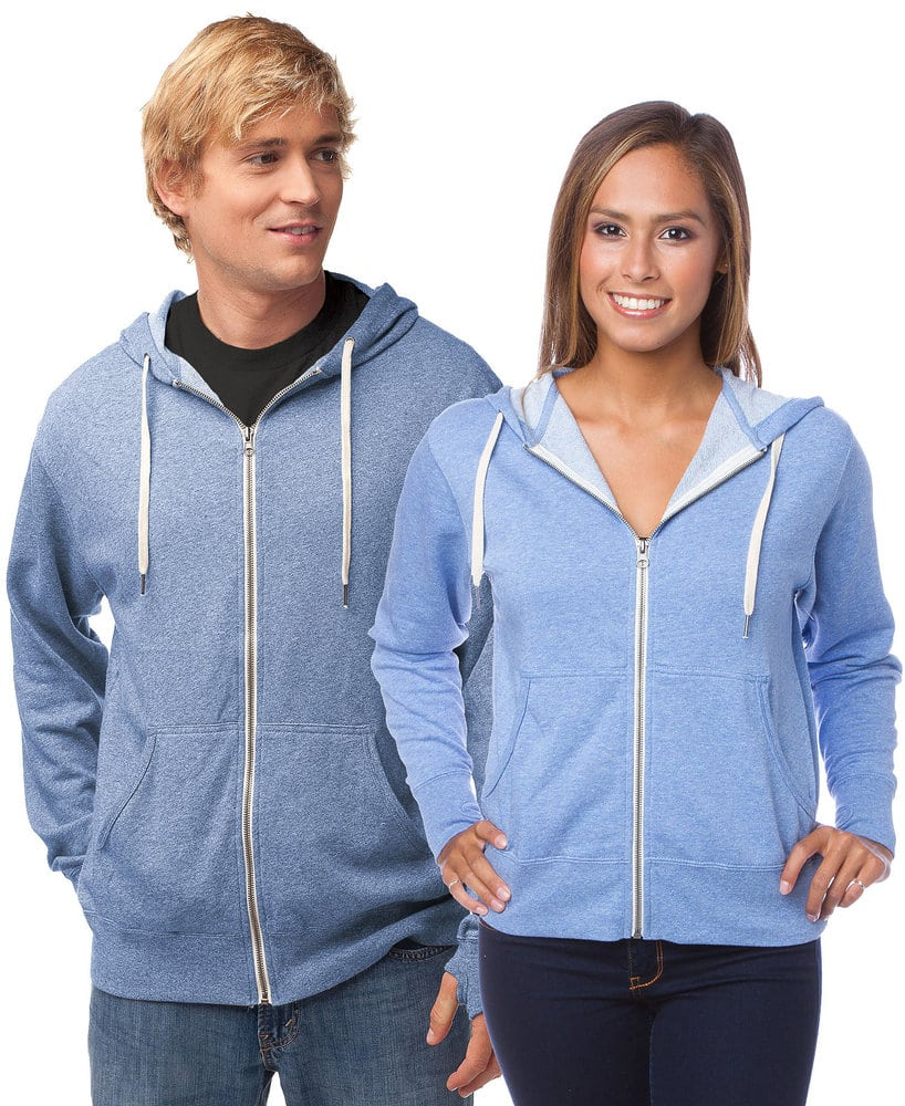 Independent Trading Co. PRM90H - Adult Midweight Heather French Terry Zip Fleece Hood