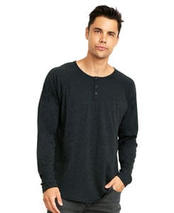 Next Level NL6072 - Mens Tri-Blend Long Sleeve Henley Tee