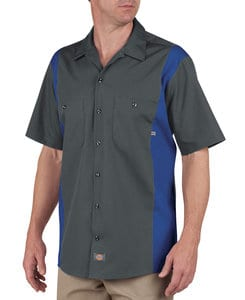 Dickies KLS524 - Adult Industrial Color Block Short Sleeve Shirt