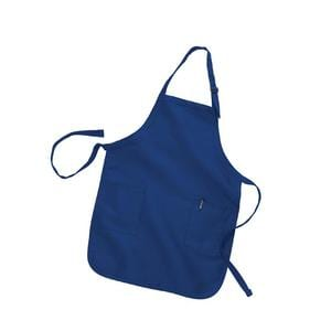 Q-Tees Q4350 - Full Length Apron with 2 Patch Pockets