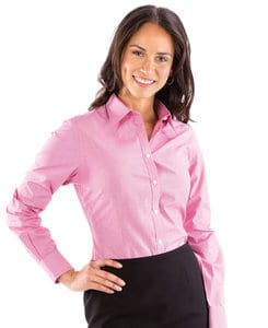 VanHeusen 13V0427 - Ladies Yarn Dyed Mini Check Long Sleeve Shirt