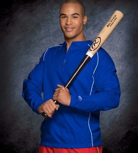 Rawlings RP9715 - ADULT QUARTER-ZIP LONG SLEEVE DOBBY JACKET WITH PIPING