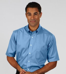 VanHeusen 13V0532 - MENS SHORT SLEEVE EASY CARE TWILL DRESS SHIRT