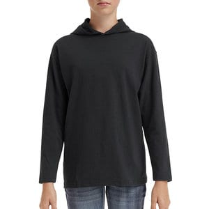Anvil 987B - YOUTH LIGHTWEIGHT LONG SLEEVE HOODED TEE