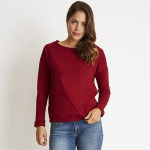 Next Level NL6931 - LADIES FRENCH TERRY LONG SLEEVE SCOOP
