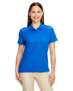 Ash City - Core 365 78181R - Ladies Radiant Performance Piqué Polo with Reflective Piping