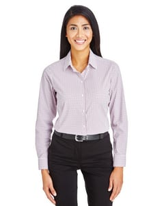 Devon & Jones DG540W - CrownLux Performance™ Ladies Micro Windowpane Shirt
