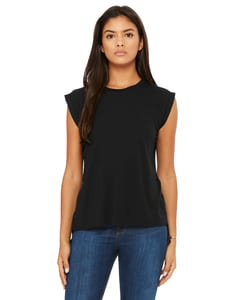 Bella+Canvas 8804 - Ladies Flowy Muscle T-Shirt with Rolled Cuff