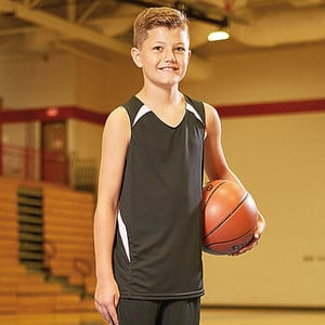 A4 NB2372 - YOUTH DOUBLE/DOUBLE REVERSIBLE JERSEY