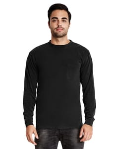 Next Level 7451S - Adult Power Long-Sleeve Pocket Crew