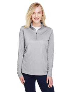 Team 365 TT31HW - Ladies Zone Sonic Heather Performance Quarter-Zip