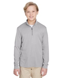 Team 365 TT31HY - Youth Zone Sonic Heather Performance Quarter-Zip