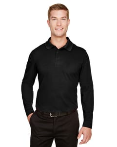 Devon & Jones DG20LT - Mens Tall CrownLux Performance™ Plaited Long-Sleeve Polo