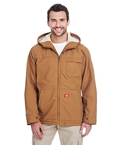 Dickies TJ350 - Mens 8.5 oz./yd² Sanded Duck Sherpa-Lined Hooded Jacket