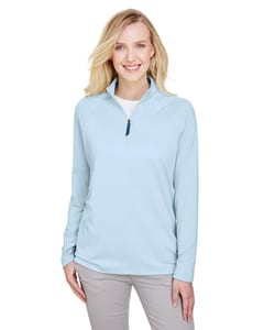 Devon & Jones DG480W - Ladies CrownLux Performance™ Clubhouse Micro-Stripe Quarter-Zip