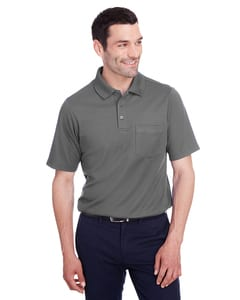 Devon & Jones DG20P - Mens CrownLux Performance Plaited Polo with Pocket