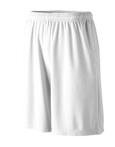 Augusta Sportswear 803 - Longer Length Wicking Short W/ Pockets