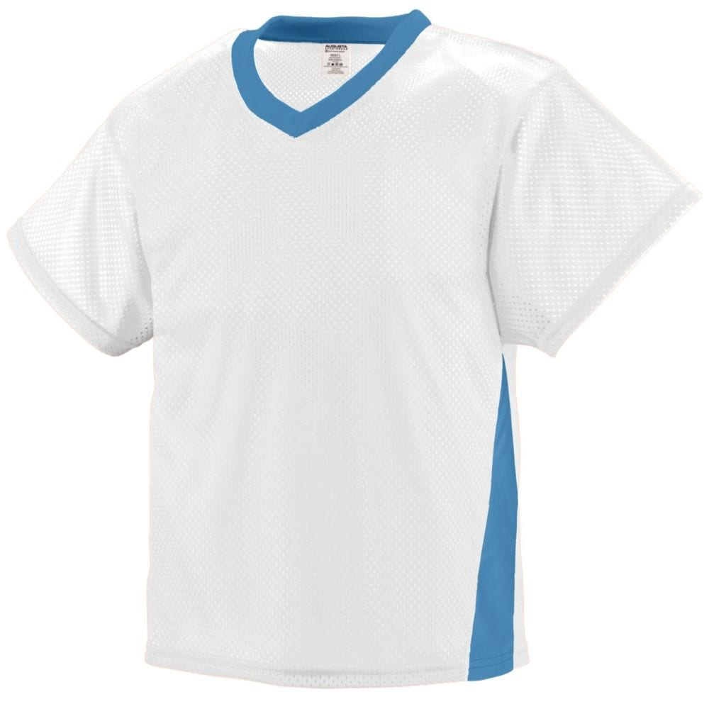 US Augusta Sportswear BOYS WICKING MESH BUTTON FRONT BASEBALL JERSEY WITH BRAID TRIM M Red//White