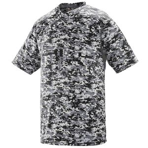 Augusta Sportswear 1556 - Youth Digi Camo Wicking Two Button Jersey