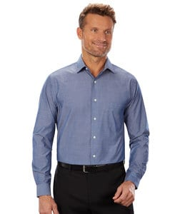VanHeusen 13V0465 - Mens Chambray Long Sleeve